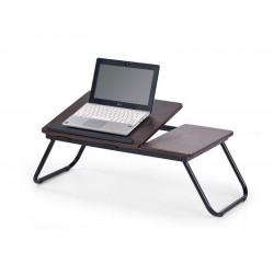 B-19 laptop tartó asztal, 60*34*23 cm - sötét dió