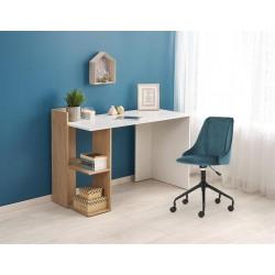 Fino íróasztal, 122*57*85 cm - arany tölgy/fehér