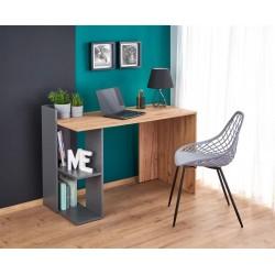 Fino íróasztal, 122*57*85 cm - wotan tölgy/antracit