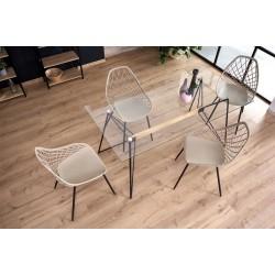 ALLEGRO üveg étkezőasztal, 160*80*75 cm