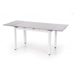 ALSTON üveg étkezőasztal, 120/180*80*75 cm