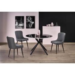 Avelar üveg étkezőasztal, 120*120*76 cm