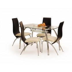CORWIN BIS üveg étkezőasztal, 125*75*72 cm