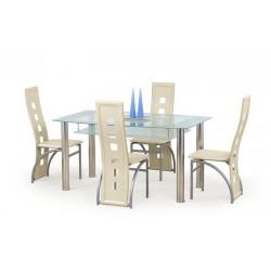 CRISTAL üveg étkezőasztal, 150*90*77 cm