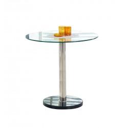 CYRYL üveg étkezőasztal, 80*80*74 cm