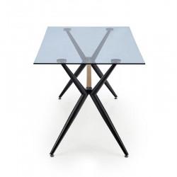 Finley üveg étkezőasztal, 140*80*74 cm