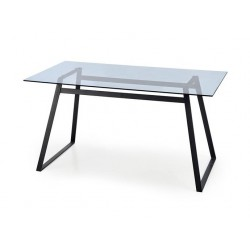 HERALD üveg étkezőasztal, 140*80*74 cm