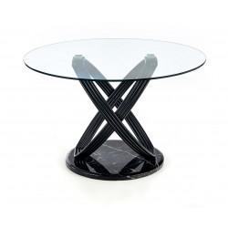 OPTICO üveg étkezőasztal, 122*122*77 cm