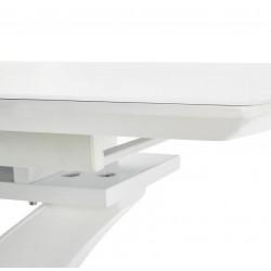 PALERMO üveg étkezőasztal, 140/180*80*75 cm - fehér  ÚJDONSÁG!