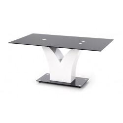 VESPER üveg étkezőasztal, 160*90*76 cm