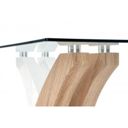 Vilmer üveg étkezőasztal, 160*90*76 cm