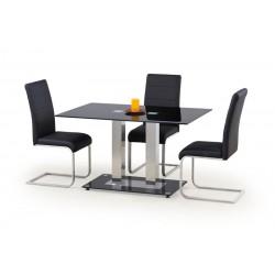 WALTER 2 üveg étkezőasztal, 130*80*74 cm