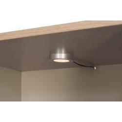 AVERO vitrin LED világítással, 85*42*191 cm - tölgy/szürke-bézs 10189.01.883  ÚJDONSÁG!