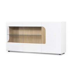 AVERO 3 ajtós tálalószekrény, 165*42*86 cm - fehér 10189.03.136
