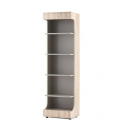 AVERO könyvespolc, 55*42*191 cm - tölgy/szürke-bézs 10189.09.883