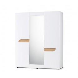 AVERO 3 ajtós tükrös gardrób, 165*58*201 cm - fehér 10189.13.136  ÚJDONSÁG!