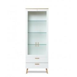 FRISK vitrin, 65*44,5*182 cm - fehér 10188.01.135