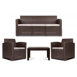HORILES kerti bútor szett, kanapé+2 db fotel+dohányzóasztal 11012.01.750