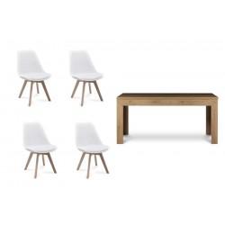 BESO, CALDO asztal + 4 db szék, 140/180*90*75 cm 18001.01.154