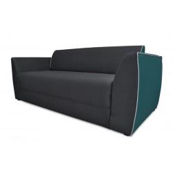GALO kanapé, 179*83*73 cm - sötét szürke/türkiz 11138.01.864