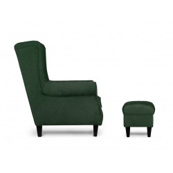 MILES fotel, 82*97*105 cm - fekete/zöld 10393.02.300
