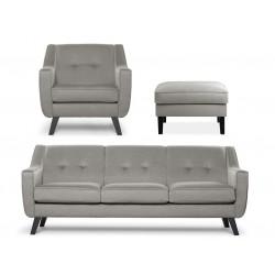 TERSO ülőgarnitúra szett: 3 sz. kanapé+fotel+puff - bézs 10334.06.700 ÚJDONSÁG!