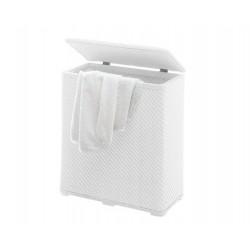 AMBROGIO szennyestartó, 50*28*55 cm - fehér