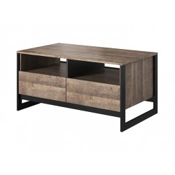 ARDEN E LS2 dohányzóasztal, 108,6*61,4*53 cm - Grande tölgy/matera