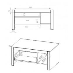 ARKO 12 dohányzóasztal, 108*69*52 cm