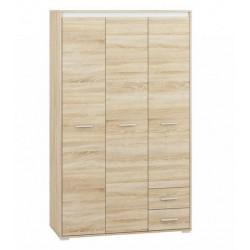 AVO 01 akasztós+polcos szekrény, 120*50*200 cm - fehér