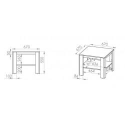 AVO 18 dohányzóasztal, 67*67*55 cm - antracit
