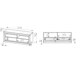 BALTICA 13 TV szekrény, 138*43*55 cm