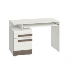 BLANCO 11 íróasztal, 119*55*78 cm - világos fenyő/szürke