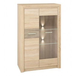 CASTEL 06/S vitrines szekrény, 85*43*133 cm
