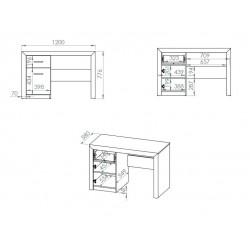 CASTEL 19 íróasztal, 120*58*78 cm