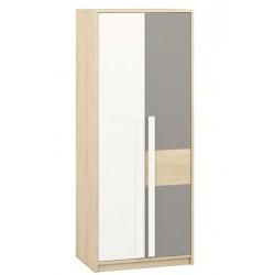 DROP 02 akasztós+polcos szekrény, 80*55*199 cm - szürke patina