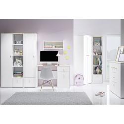 ELMO 18 íróasztal, 117*51*79 cm - fjord bükk/fehér