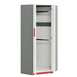 IQ 01 sarok szekrény, 82*82*199 cm - rózsaszín