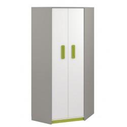 IQ 01 sarok szekrény, 82*82*199 cm - zöld
