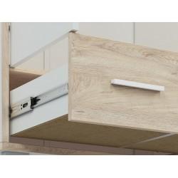 KUBU 02 nyitott polcos szekrény, 51*40*200 cm