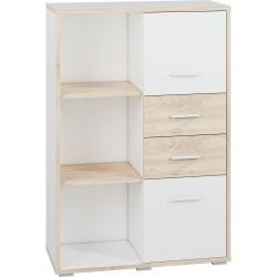 KUBU 04 alacsony polcos szekrény, 92*40*135 cm