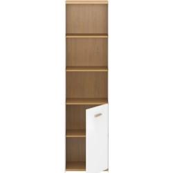 ADAM RO1D nyitott polcos szekrény, 53,5*41*202,5 cm - fehér/tölgy  ÚJDONSÁG!
