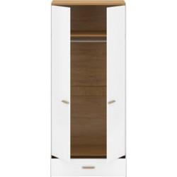 ADAM SZ2D1S akasztós szekrény, 90*55*202,5 cm - fehér/tölgy