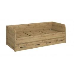 AYSON L2S/90 ágy fiókkal, 90*200 cm - artisan tölgy