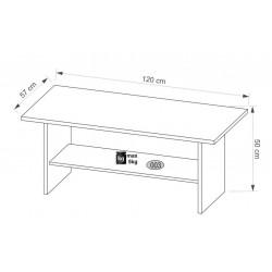 AYSON LAW/120 dohányzóasztal, 120*57*50 cm - artisan tölgy