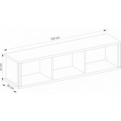 AYSON SZW125 fali polc, 125*30*30 cm - artisan tölgy