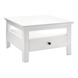 BRANDSON LAW1S dohányzóasztal, 70*70*46 cm - fehér