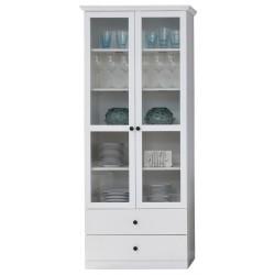 BRANDSON W2W2S vitrin, 81*41*196 cm - fehér