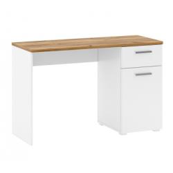CANDY B1D1S/120 íróasztal, 120*47,5*77,5 cm - craft tölgy/fehér