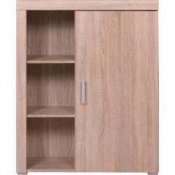 DAMIS R1D alacsony polcos szekrény, 90,5*35*113,5 cm - sonoma tölgy